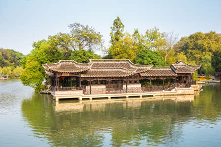 world cultural heritage: the slender west lake is world cultural heritage site and national scenic spot Editorial