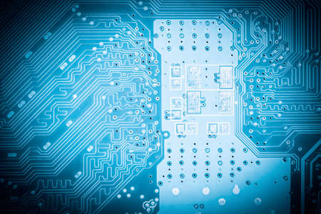high tech: circuit board closeup, abstract high tech background