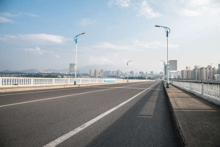 an approach: highway background of approach bridge, a part of the ascent