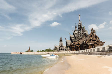 thailand beach: thailand sanctuary of truth in pattaya by the sea