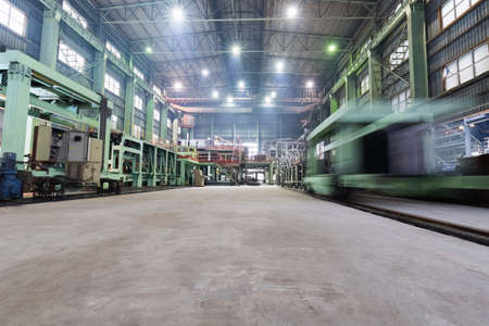 Industrielle Produktion Workshop Großansicht in einer Blei-und Zink-Metall-Fabrik