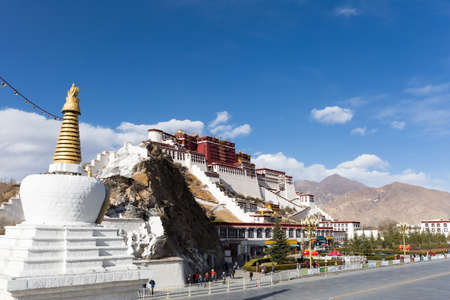 dalai: the potala palace in lhasa city, tibet  autonomous region, China