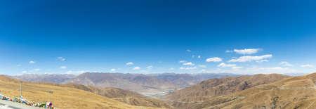 a panoramic view the mountains on tibetan plateau