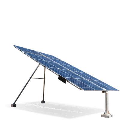 ecological environment: solar panel isolated on white Stock Photo