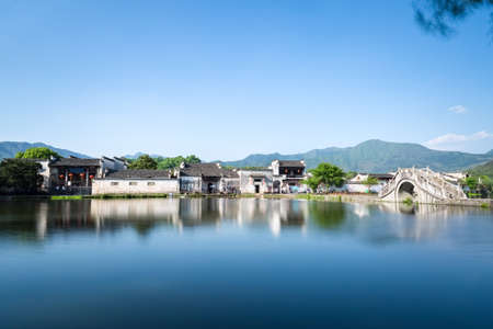 peaceful ancient villages in southern anhui , hongcun, China