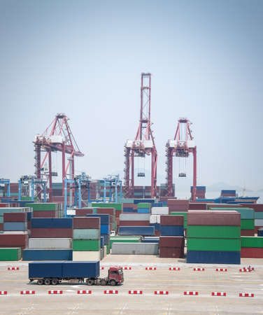 port of ningbo zhoushan, container terminal with modern logistics