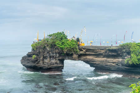 Tanah Lot landscape, one of the most famous temples in bali island  , indonesia Stock Photo