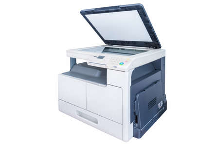 print copy machine isolated on white background
