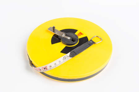 measure tape isolated, mainly used for construction site measurement