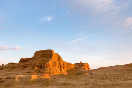 światowe miasto duchów karamay, krajobraz ukształtowania terenu erozji wiatrowej w Xinjiang