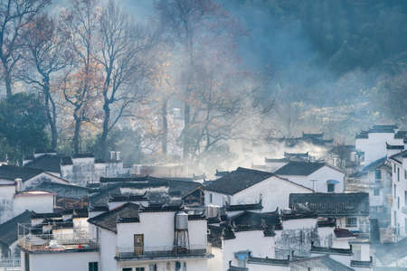shicheng village in the late autumn sunshine, wuyuan county, the most beautiful countryside in China