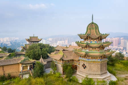 chinese islamic architecture, south mountain gongbei temple, xining city, qinghai province