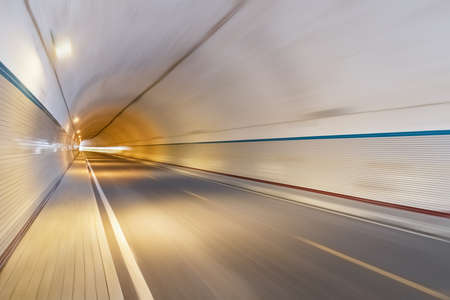 background of the tunnel, motion blur, warm tone