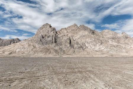 empty badlands on plateau, golmud, qinghai province, China