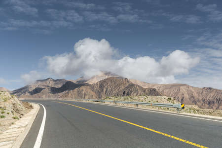 highway and plateau scenery, qinghai province, China