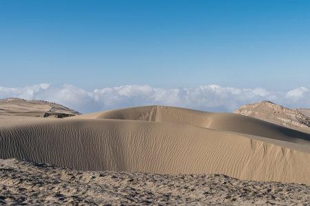 land desertification closeup, western China.