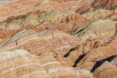 colorful hilly texture background, zhangye danxia national geological park, gansu province, China.