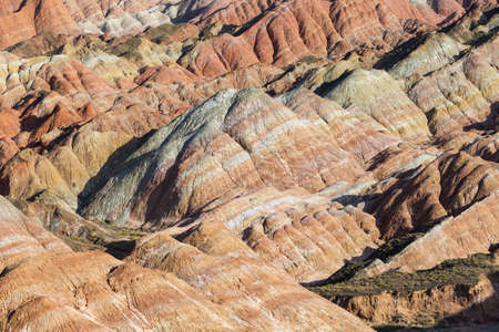 colorful hilly texture closeup, geological landscape Imagens