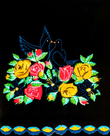 Handmade embroidery, folk arts and crafts