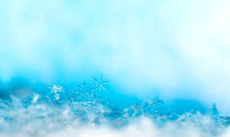 natural snowflakes