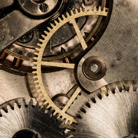 clockwork old mechanical watch, high resolution and detail