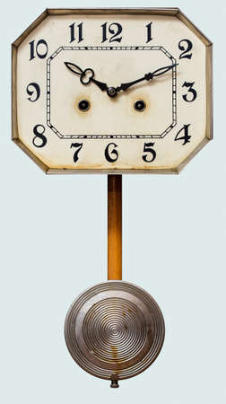 vintage antique clock with pendulum Stock Photo