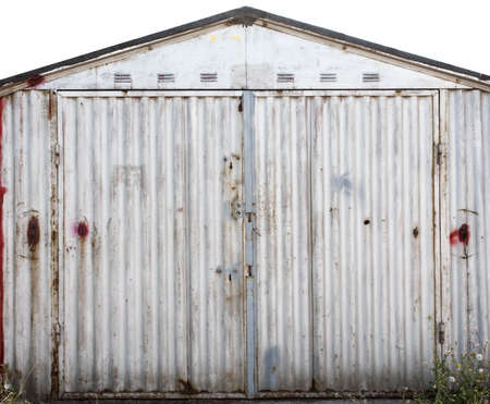 Great Old Metal Warehouse Door, Hangar, High Resolution Photo Stock Photo    94831746