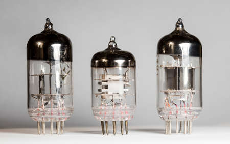 vacuum tube, radio Stockfoto