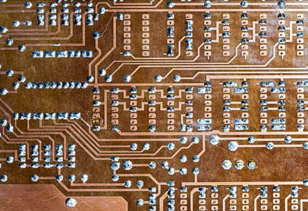 old radio chip Banque d'images