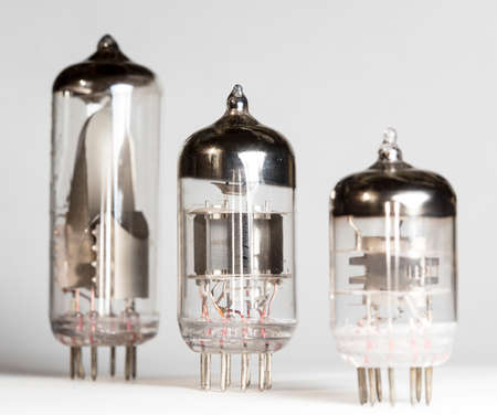 vacuum tube, radio Stock Photo