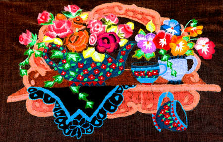 embroidery, art, handicraft Stock Photo