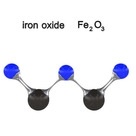 Molecule Iron Oxide 3d Illustration Stock Photo Picture And