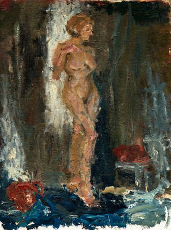 oil painting, portrait nude Imagens