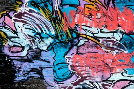 Street wall graffiti Stock Photo