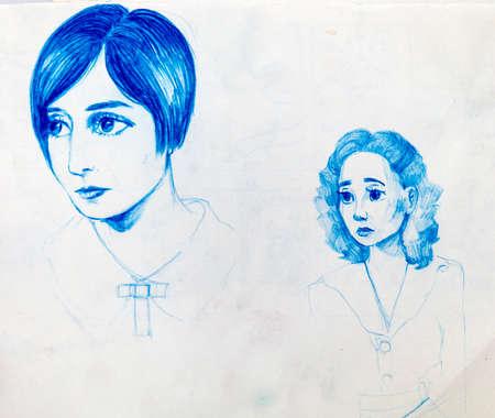 sketch, manga style Banco de Imagens
