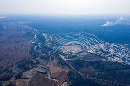Open pit granite quarry, view from above Zdjęcie Seryjne