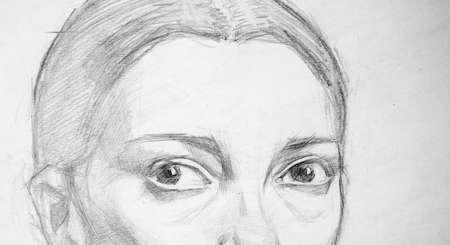 pencil drawing illustration, portrait, sketch Stockfoto