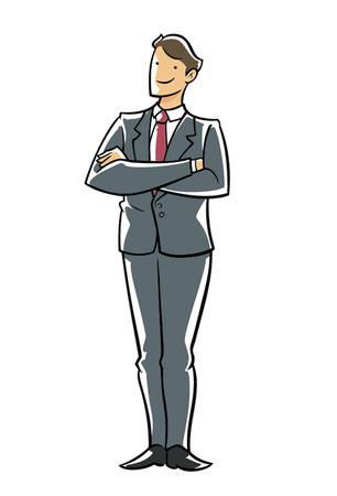 Confidence executive hands across chest. Stock Vector - 4088446
