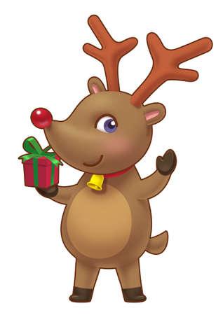rein: Cute Rein Deer Stock Photo