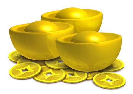 Chinese gold photo