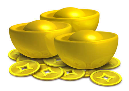 asian coins: Chinese gold