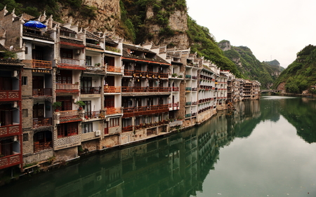 high angles: Old buildings in Zhenyuan Editorial