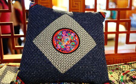 ethnic mix: Hmong batik cushions