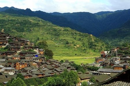 miao: XI Jiang Hu Miao village Stock Photo