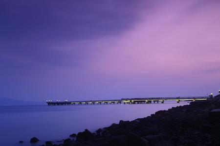 coastline: coastline scenic at night