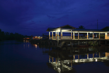 quietness: Sabah night scenery Stock Photo