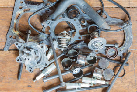replaceable: Car engine parts are replaceable. Stock Photo