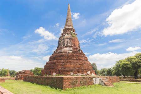 Wat Mahathat in Ayutthaya province.