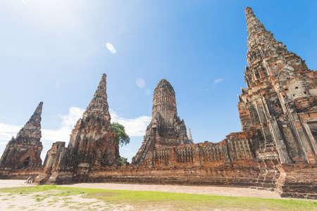 Wat Chaiwatthanaram in Ayutthaya province. Stock Photo