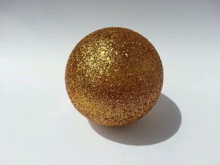 shiny: Gold Christmas ball studio shot